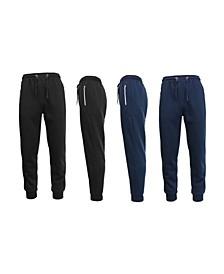 Men's 2-Packs Slim Fit Fleece Joggers with Zipper Pockets