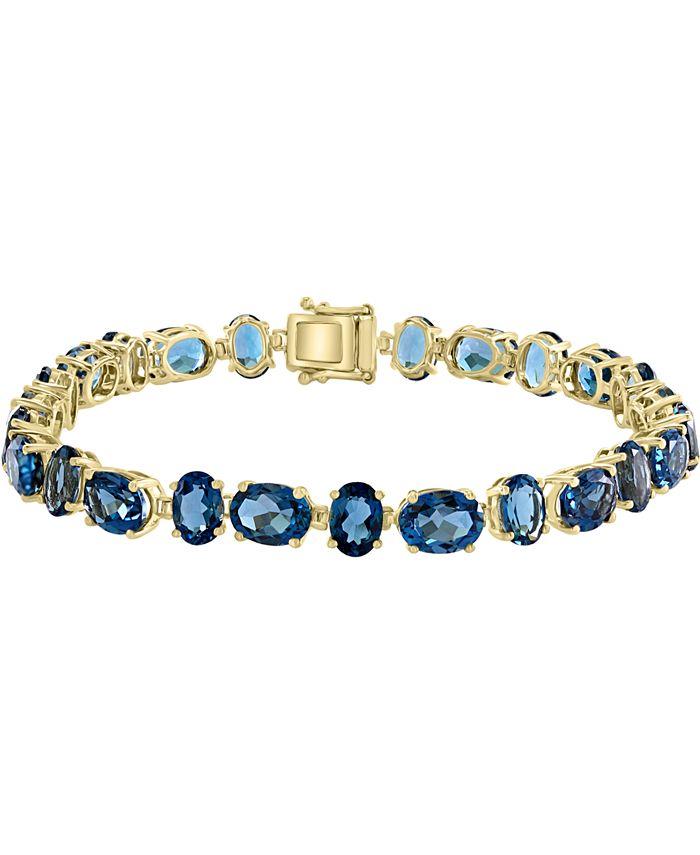 LALI Jewels - London Blue Topaz Tennis Bracelet (29-1/3 ct. t.w.) in 14k Gold