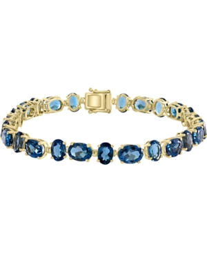 London Blue Topaz Tennis Bracelet (29-1/3 ct. t.w.) in 14k Gold