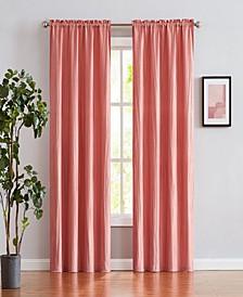 "Venetian Crushed Linen Look 38"" x 84"" Curtain Set"