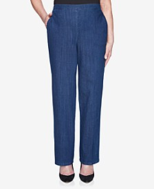 Pull On Back Elastic Proportioned Denim Jean Pant