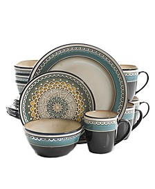 Amberdale 16-piece Dinnerware Set  Teal, Service for 4