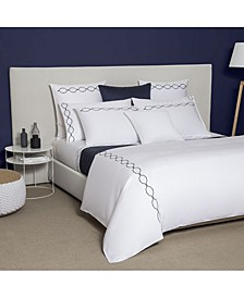 Seal Embroidery Queen Duvet Cover
