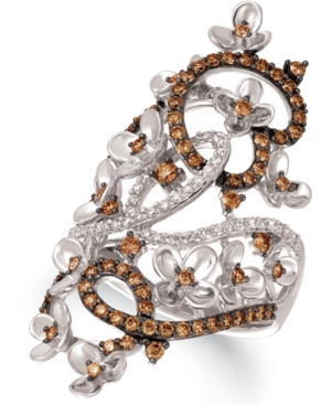 Le Vian Crazy Collection Diamond Fancy Scroll Floral Ring (1-1/6 ct. t.w.) in 14k Rose, Yellow or Wh