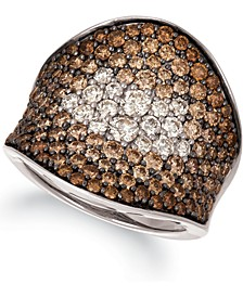 Chocolate & Nude Chocolate Souffle™ Chocolate Diamond (2-5/8 ct. t.w.) & Nude Diamond (3/8 ct. t.w.) Statement Ring in 14k Rose, Yellow or White Gold