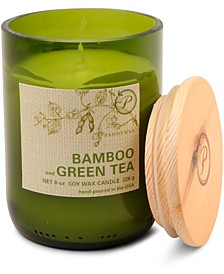 Eco Green Glass Candle - Bamboo & Green Tea, 8-oz.