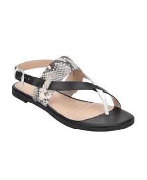 Easy Spirit Women's Evolve Avah6 Flat Sandal Women's Shoes In Black
