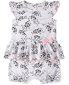 Baby Girls Floral-Print Romper