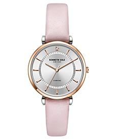 Women's Genuine Diamond Watch 34 mm