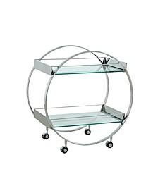 Contemporary Circular Tea Cart