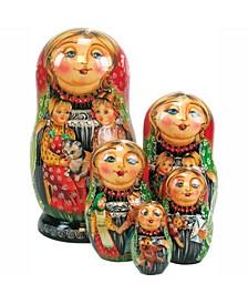 Little Chick 5 Piece Russian Matryoshka Stacking Dolls Set