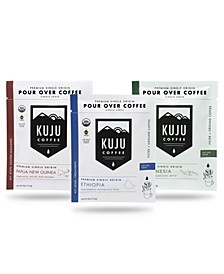 Fair Trade Organic Single Origin Collection Single-Serve Pour Over Coffee, 30 Pack