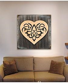 Celtic Spiral Hart Wood Box