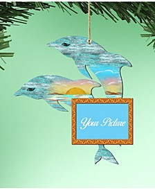 Twin Dolphins Picture Frame Ornament Set of 2