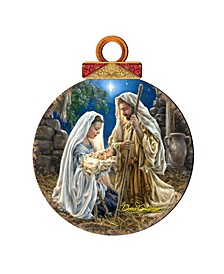 by Dona Gelsinger Glory to God Ornament Ball, Set of 2