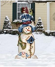 Blue White Warm Winter Wish Oversized Garden Decoration by Jamie Mills Price