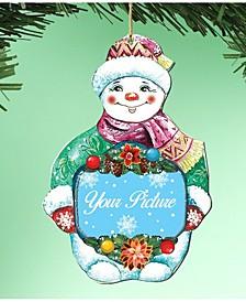 Snowman Picture Ornament, Set of 2