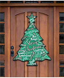 Merry Christmas Tree Door Hanger