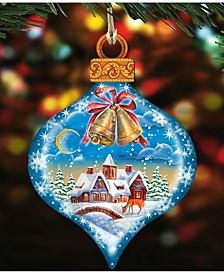 Winter Drop Wooden Christmas Ornament, Set of 2