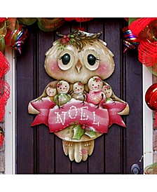 Jamie Mills Price Christmas Owl You Need Is Love Wooden Decorative Door Hanger