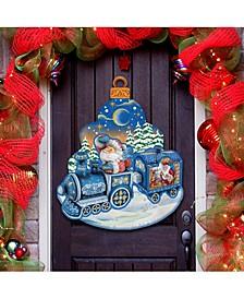 Christmas Train Door Hanger