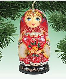 Nesting Doll Matreshkas Ornament, Set of 2