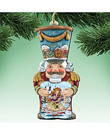 Old World Nutcracker Wooden Christmas Ornament Set of 2