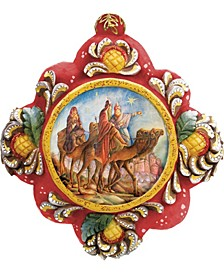 Hand Painted Three Kings Nativity Scenic Ornament