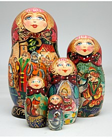 5 Piece Sultan Russian Matryoshka Nested Doll Set