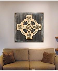Celtic Wheel Cross Wood Box S