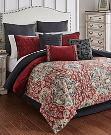Sadler 9 Piece Queen Comforter Set