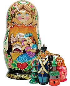 Mother Love Russian Matryoshka Wooden Doll and Ornaments Set