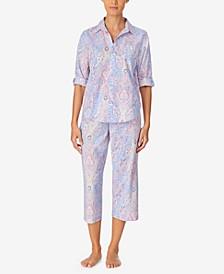 Petite Printed Capri Pajama Set