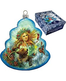 Christmas Angel Holiday Splendor Glass Ornament