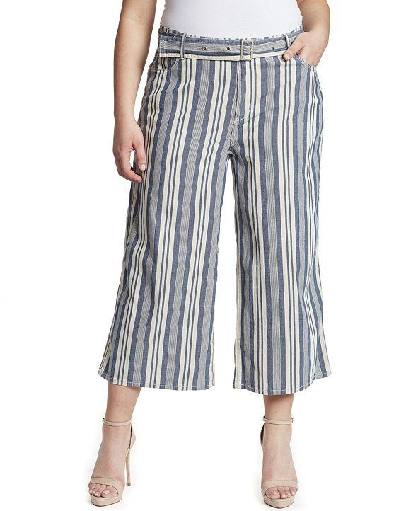 Skinnygirl Women's Plus Barry Wide Leg Jean