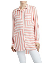 Women's Stripe Play Button Down Shirt