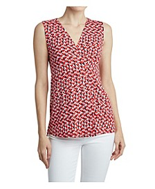Women's Front Drape Pleat Top