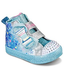 Toddler Girl's Twinkle Toes Shuffle Lite - Let It Sparkle High Top Fashion Stay-Put Closure Casual Sneakers from Finish Line