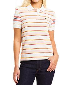 Lacoste Striped Cotton Polo Shirt