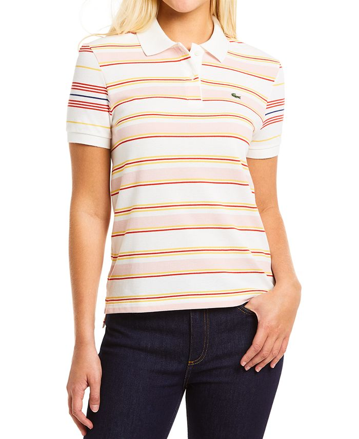 Lacoste - Striped Cotton Polo Shirt
