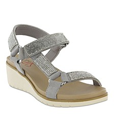 Amore Cartia Rhinestone Women's Wedge Sandal