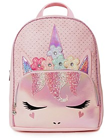 Girls Flower Crown Miss Gwen Unicorn Perforated Full Size Backpack