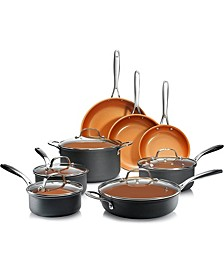 Professional Series Hard Anodized Aluminum Ultra-Nonstick Ti-Ceramic Coating 13-Pc. Cookware Set