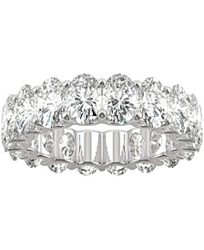 Moissanite Oval Eternity Band (9 ct. t.w. DEW) in 14k White Gold