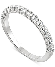 Moissanite Wedding Band (3/8 ct. t.w. DEW) in 14k White, Yellow or Rose Gold