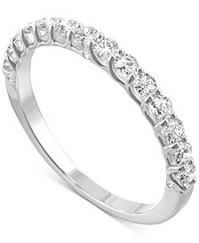 Charles & Colvard Moissanite Wedding Band (3/8 ct. t.w. DEW) in 14k White, Yellow or Rose Gold