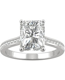 Moissanite Radiant Engagement Ring (2-7/8 ct. t.w. DEW) in 14k White Gold