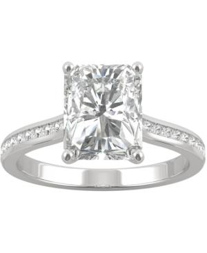 Moissanite Radiant Engagement Ring (2-7/8 ct. t.w. Dew) in 14k White Gold