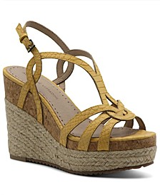 Women's Clutch Platform Wedge Sandals