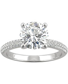 Moissanite Engagement Ring (2-1/4 ct. t.w. DEW) in 14k White Gold